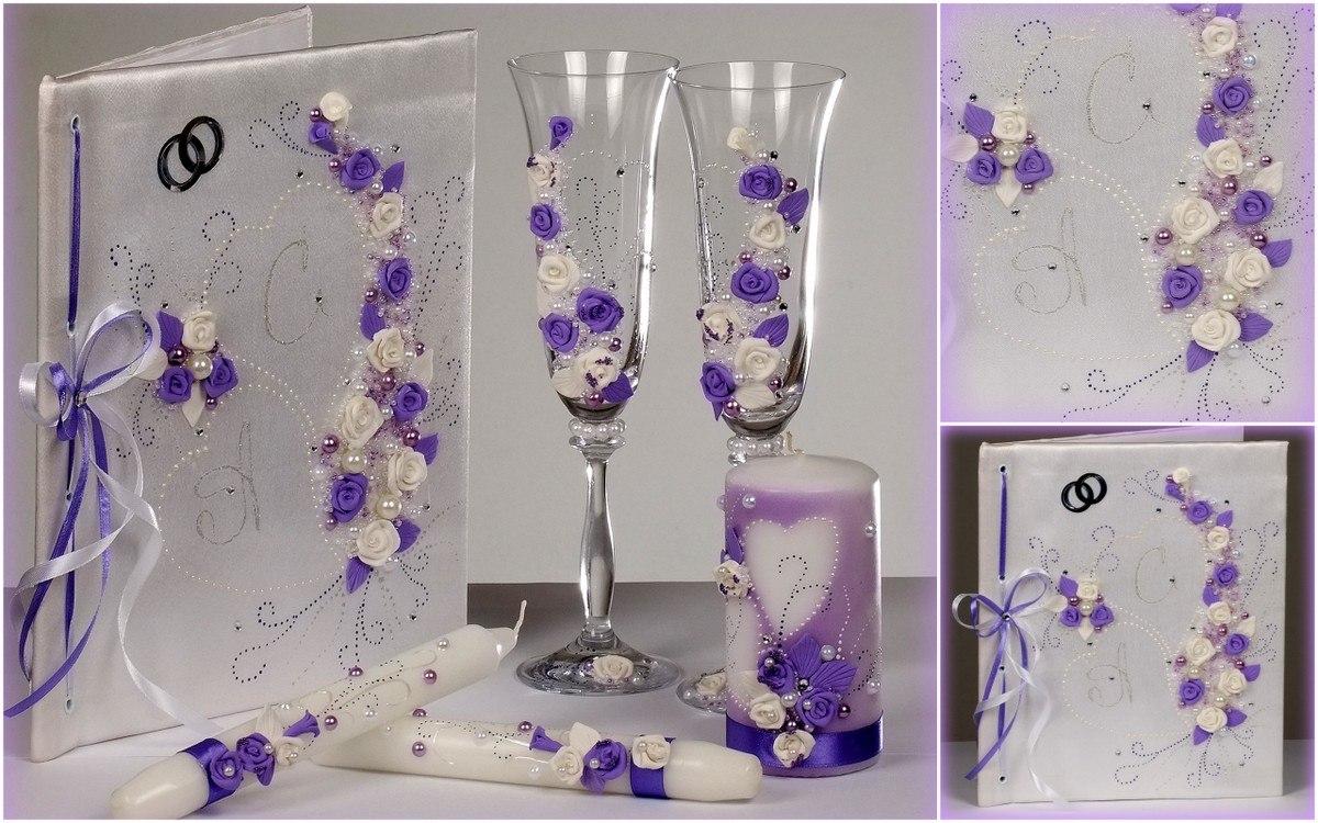 Свадебные бокалы дизайн своими руками