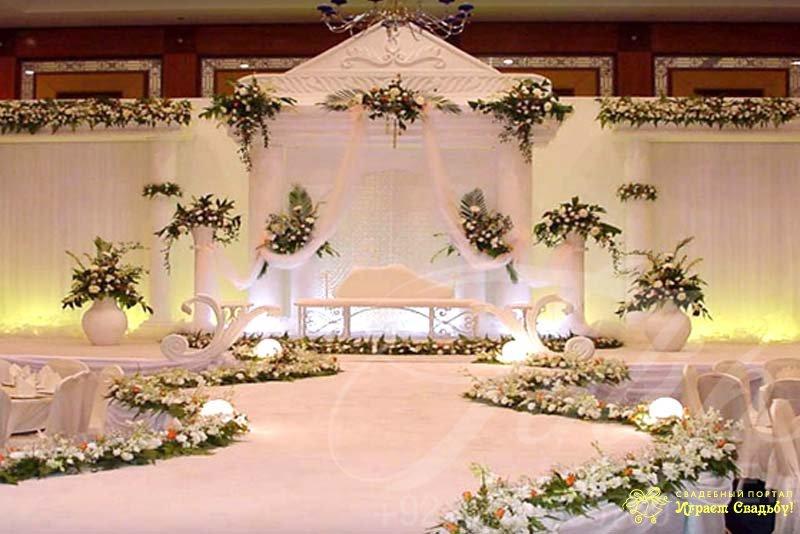 Оформление сцен для свадьбы